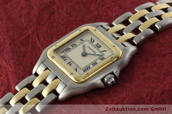 montre de luxe d occasion Cartier Panthere acier / or  quartz Kal. 157  | 142525 01