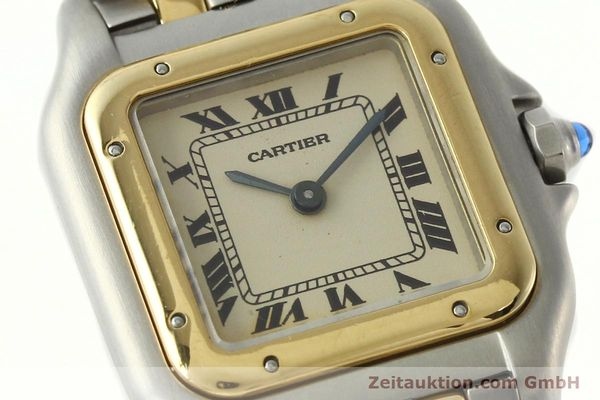 montre de luxe d occasion Cartier Panthere acier / or  quartz Kal. 157  | 142525 02