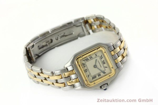 montre de luxe d occasion Cartier Panthere acier / or  quartz Kal. 157  | 142525 03