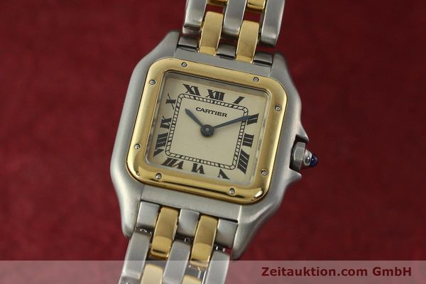 montre de luxe d occasion Cartier Panthere acier / or  quartz Kal. 157  | 142525 04
