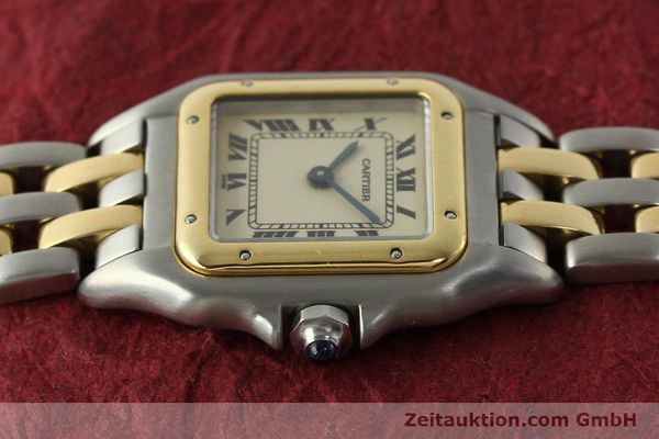 montre de luxe d occasion Cartier Panthere acier / or  quartz Kal. 157  | 142525 05