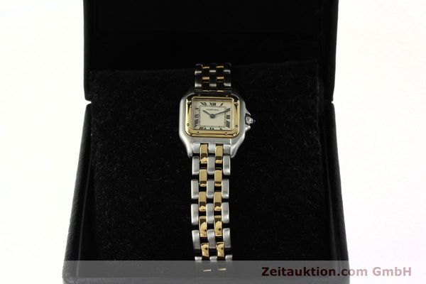 montre de luxe d occasion Cartier Panthere acier / or  quartz Kal. 157  | 142525 07