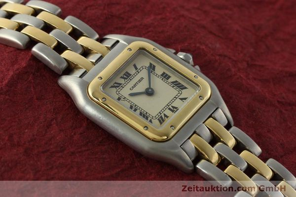 montre de luxe d occasion Cartier Panthere acier / or  quartz Kal. 157  | 142525 13