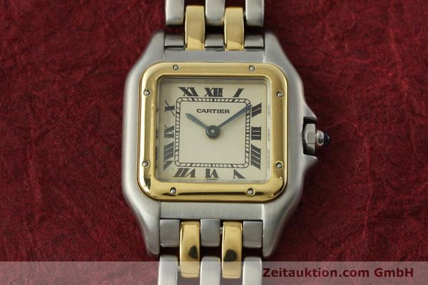 montre de luxe d occasion Cartier Panthere acier / or  quartz Kal. 157  | 142525 14