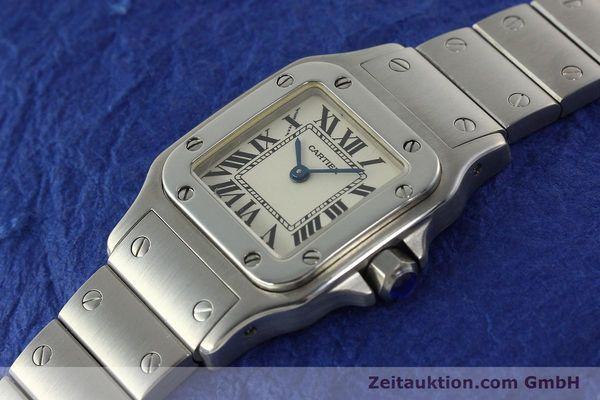 Used luxury watch Cartier Santos steel quartz Kal. 157  | 142526 01