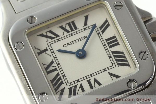Used luxury watch Cartier Santos steel quartz Kal. 157  | 142526 02