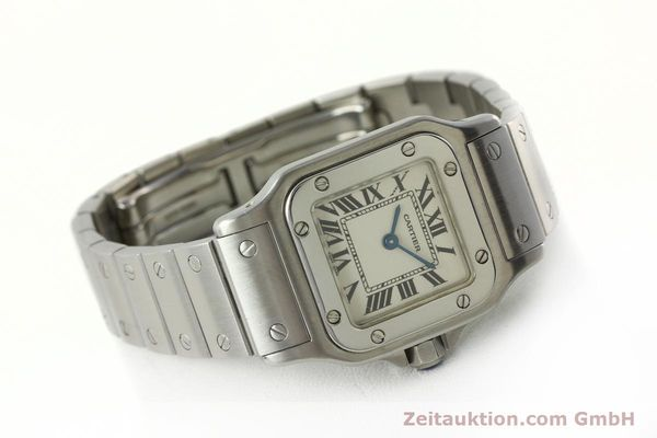 Used luxury watch Cartier Santos steel quartz Kal. 157  | 142526 03