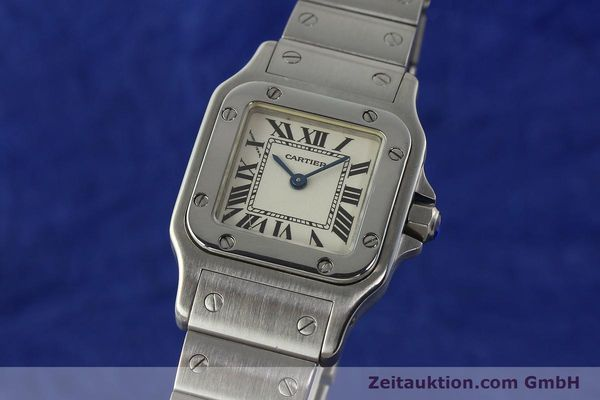 Used luxury watch Cartier Santos steel quartz Kal. 157  | 142526 04
