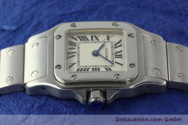 Used luxury watch Cartier Santos steel quartz Kal. 157  | 142526 05