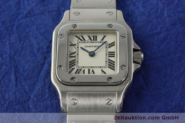 Used luxury watch Cartier Santos steel quartz Kal. 157  | 142526 14