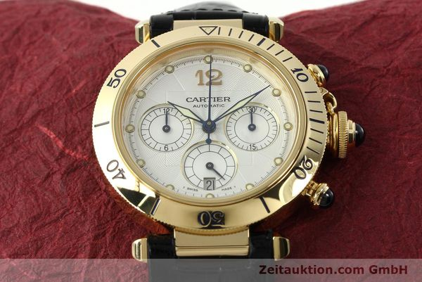 Used luxury watch Cartier Pasha chronograph 18 ct gold automatic Kal. 205  | 142527 16