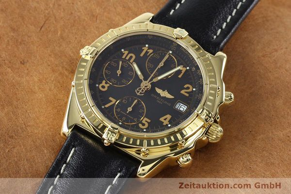Used luxury watch Breitling Chronomat chronograph 18 ct gold automatic Kal. B13 ETA 7750 Ref. K13050.1  | 142528 01