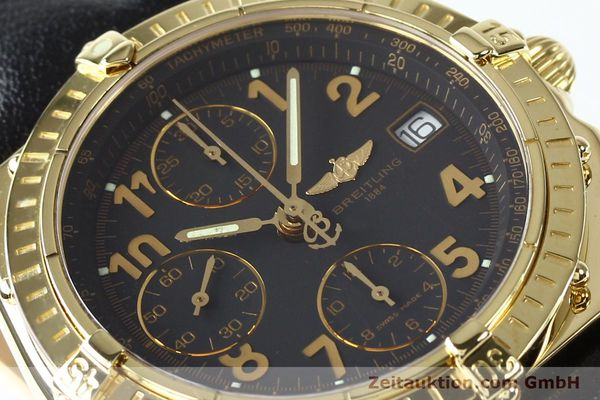 Used luxury watch Breitling Chronomat chronograph 18 ct gold automatic Kal. B13 ETA 7750 Ref. K13050.1  | 142528 02
