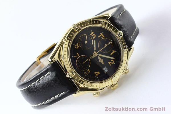 Used luxury watch Breitling Chronomat chronograph 18 ct gold automatic Kal. B13 ETA 7750 Ref. K13050.1  | 142528 03