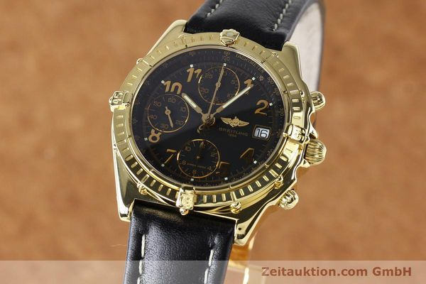 Used luxury watch Breitling Chronomat chronograph 18 ct gold automatic Kal. B13 ETA 7750 Ref. K13050.1  | 142528 04