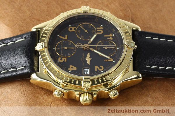 Used luxury watch Breitling Chronomat chronograph 18 ct gold automatic Kal. B13 ETA 7750 Ref. K13050.1  | 142528 05