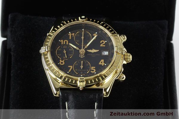 Used luxury watch Breitling Chronomat chronograph 18 ct gold automatic Kal. B13 ETA 7750 Ref. K13050.1  | 142528 07