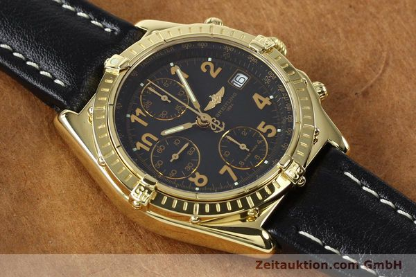 Used luxury watch Breitling Chronomat chronograph 18 ct gold automatic Kal. B13 ETA 7750 Ref. K13050.1  | 142528 15