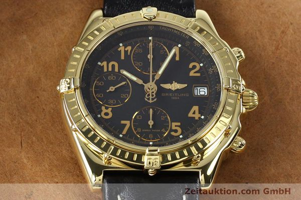 Used luxury watch Breitling Chronomat chronograph 18 ct gold automatic Kal. B13 ETA 7750 Ref. K13050.1  | 142528 16
