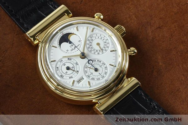 montre de luxe d occasion IWC Da Vinci chronographe or 18 ct automatique Kal. 790 Ref. 3750  | 142531 15