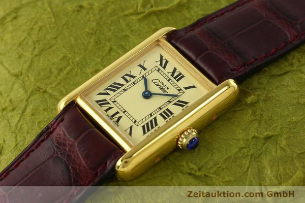 Used luxury watch Cartier Tank silver-gilt quartz Kal. 57  | 142533 01