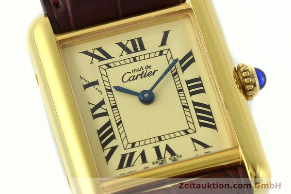 Used luxury watch Cartier Tank silver-gilt quartz Kal. 57  | 142533 02