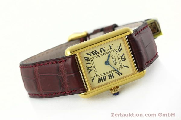 Used luxury watch Cartier Tank silver-gilt quartz Kal. 57  | 142533 03
