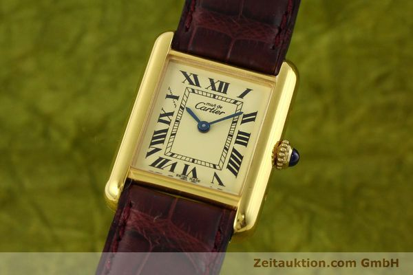 Used luxury watch Cartier Tank silver-gilt quartz Kal. 57  | 142533 04