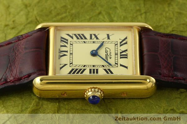 Used luxury watch Cartier Tank silver-gilt quartz Kal. 57  | 142533 05