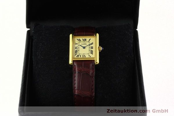 Used luxury watch Cartier Tank silver-gilt quartz Kal. 57  | 142533 07
