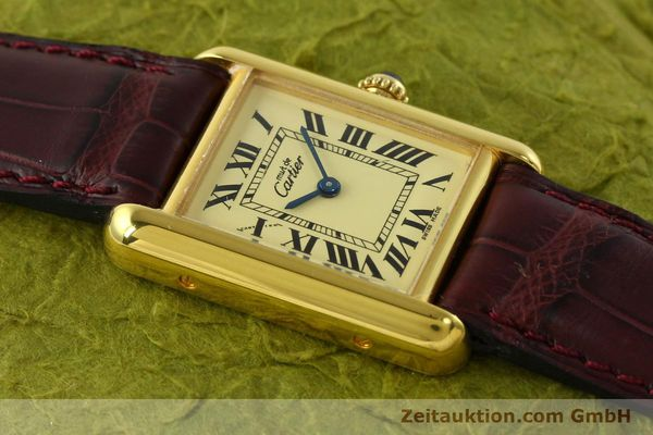 Used luxury watch Cartier Tank silver-gilt quartz Kal. 57  | 142533 13