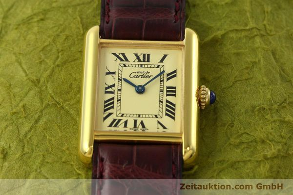 Used luxury watch Cartier Tank silver-gilt quartz Kal. 57  | 142533 14