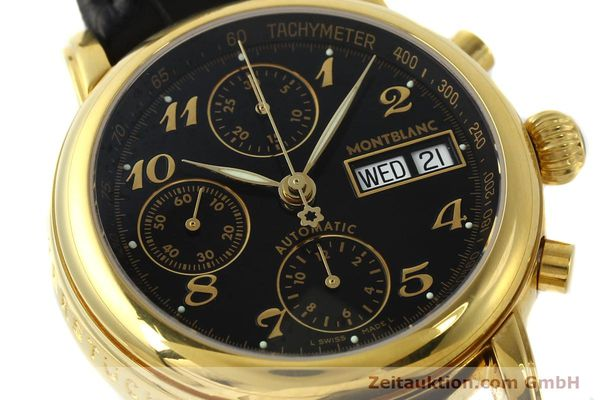 Used luxury watch Montblanc Meisterstück chronograph gold-plated automatic Kal. 4810501 ETA 7750 Ref. 7016  | 142534 02