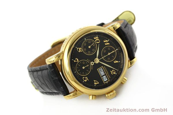 Used luxury watch Montblanc Meisterstück chronograph gold-plated automatic Kal. 4810501 ETA 7750 Ref. 7016  | 142534 03