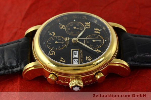 Used luxury watch Montblanc Meisterstück chronograph gold-plated automatic Kal. 4810501 ETA 7750 Ref. 7016  | 142534 05