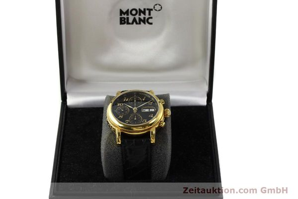 Used luxury watch Montblanc Meisterstück chronograph gold-plated automatic Kal. 4810501 ETA 7750 Ref. 7016  | 142534 07