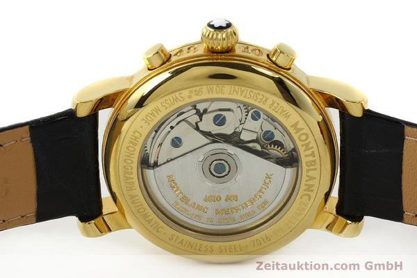 Used luxury watch Montblanc Meisterstück chronograph gold-plated automatic Kal. 4810501 ETA 7750 Ref. 7016  | 142534 09