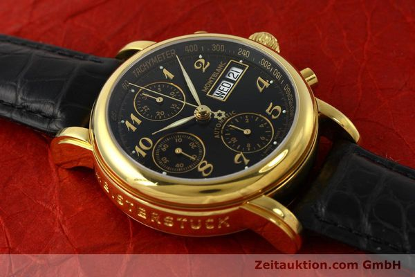 Used luxury watch Montblanc Meisterstück chronograph gold-plated automatic Kal. 4810501 ETA 7750 Ref. 7016  | 142534 14