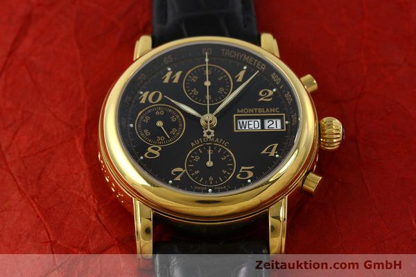 Used luxury watch Montblanc Meisterstück chronograph gold-plated automatic Kal. 4810501 ETA 7750 Ref. 7016  | 142534 15
