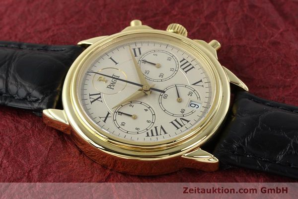 Used luxury watch Piaget Gouverneur chronograph 18 ct gold automatic Kal. 1185 P Ref. 12978  | 142535 16