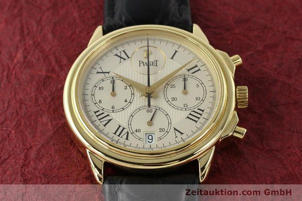 Used luxury watch Piaget Gouverneur chronograph 18 ct gold automatic Kal. 1185 P Ref. 12978  | 142535 17