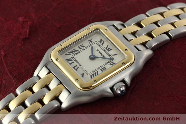 Used luxury watch Cartier Panthere steel / gold quartz Kal. 66  | 142536 01
