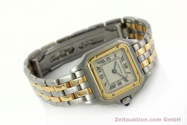 Used luxury watch Cartier Panthere steel / gold quartz Kal. 66  | 142536 03