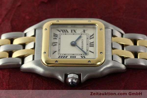 Used luxury watch Cartier Panthere steel / gold quartz Kal. 66  | 142536 05
