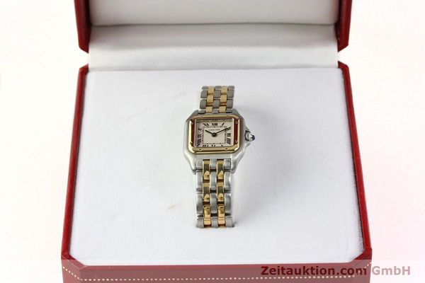 Used luxury watch Cartier Panthere steel / gold quartz Kal. 66  | 142536 07