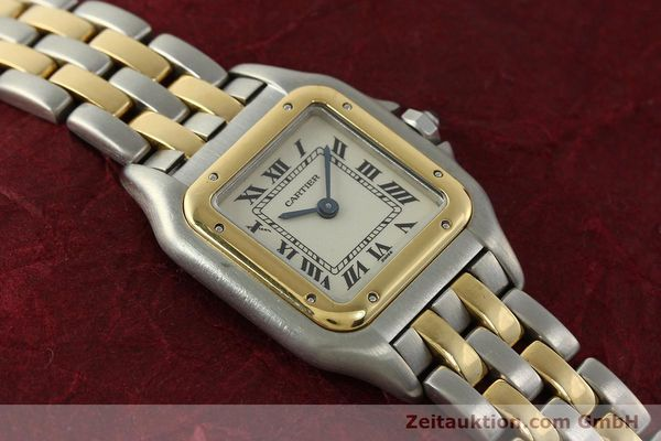 Used luxury watch Cartier Panthere steel / gold quartz Kal. 66  | 142536 15