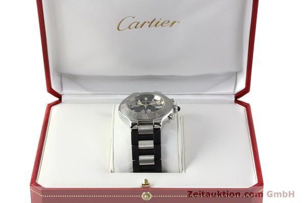 Used luxury watch Cartier Autoscaph 21 chronograph steel quartz Kal. ETA 251.272  | 142538 07