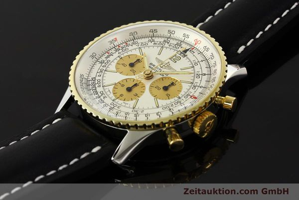Used luxury watch Breitling Navitimer chronograph steel / gold manual winding Kal. LWO 1873 Ref. 81600  | 142540 01
