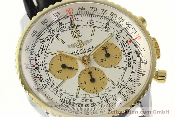 Used luxury watch Breitling Navitimer chronograph steel / gold manual winding Kal. LWO 1873 Ref. 81600  | 142540 02