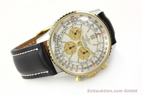Used luxury watch Breitling Navitimer chronograph steel / gold manual winding Kal. LWO 1873 Ref. 81600  | 142540 03